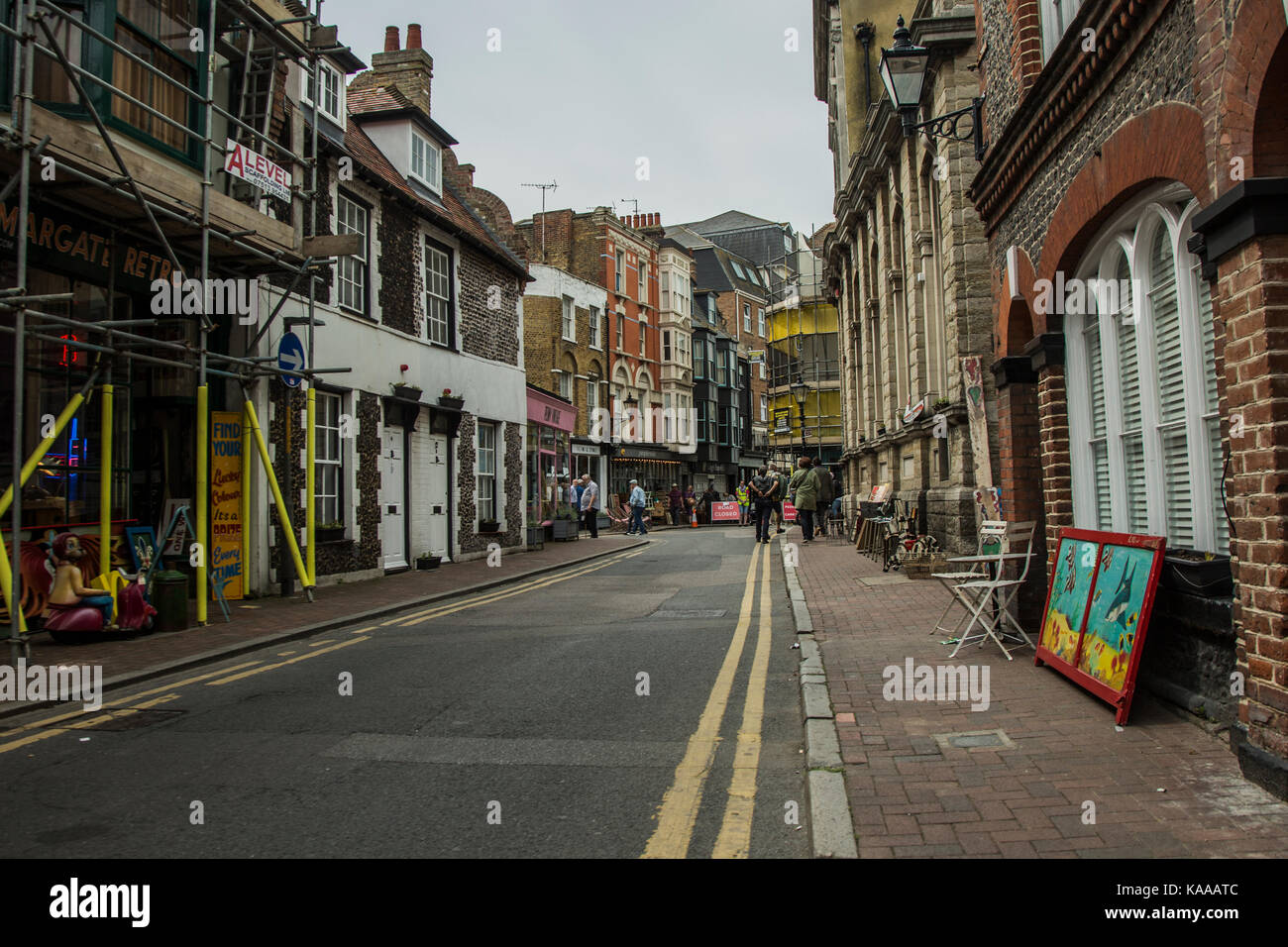 King Sreet leading to Margate`s seafront and Harbour - Stock Image