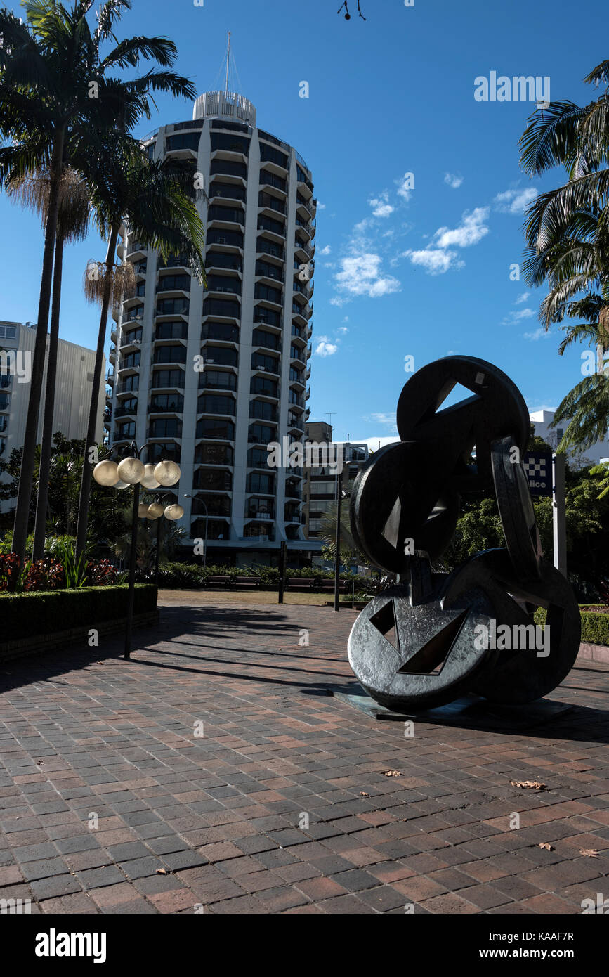 An 'Angled Wheels of fortune' sculpture in Kings Cross, a district of Sydney in New South Wales, Australia. - Stock Image
