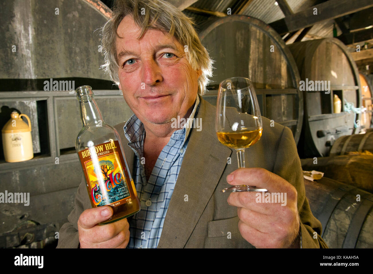 Julian Temperley, owner of the Burrow Hill Cider Farm and
