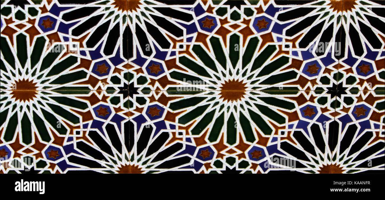 Close up view at Tiles from Toledo, Spain - Stock Image