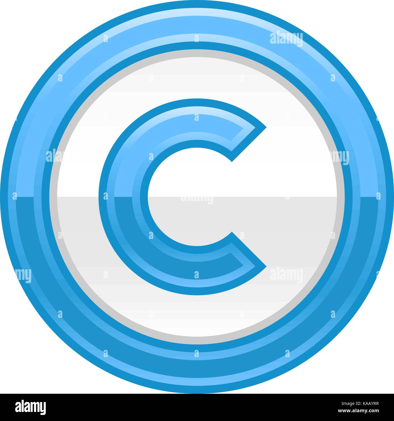 the copyright symbol, or copyright sign, a circled capital letter c Copyright Warning the copyright symbol, or copyright sign, a circled capital letter c colored rounded button web internet icon with � sign vector illustration