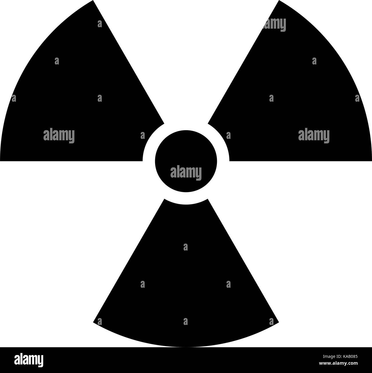 Use it in all your designs. Ionizing ionising radiation symbol attention danger warning sign. Quick and easy recolorable - Stock Vector