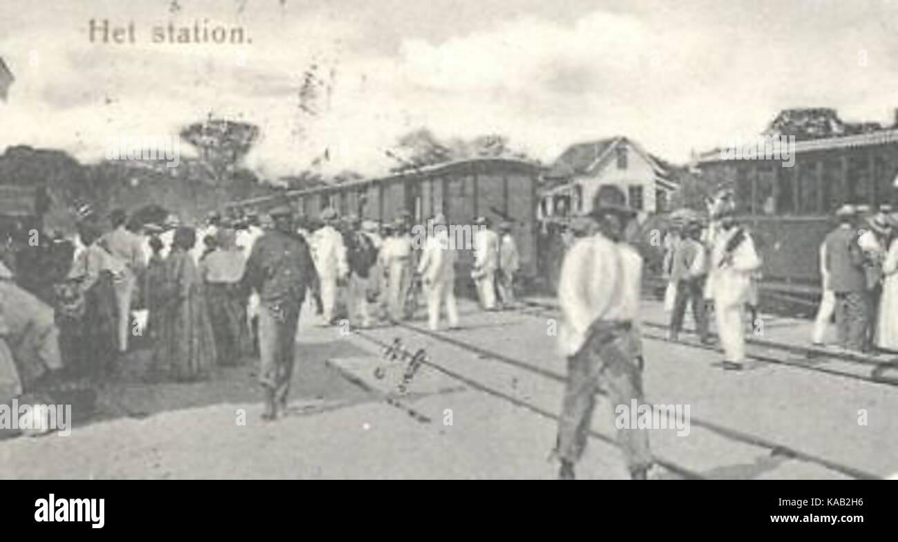 Republiek Railway Station Suriname 1905 Cropped - Stock Image