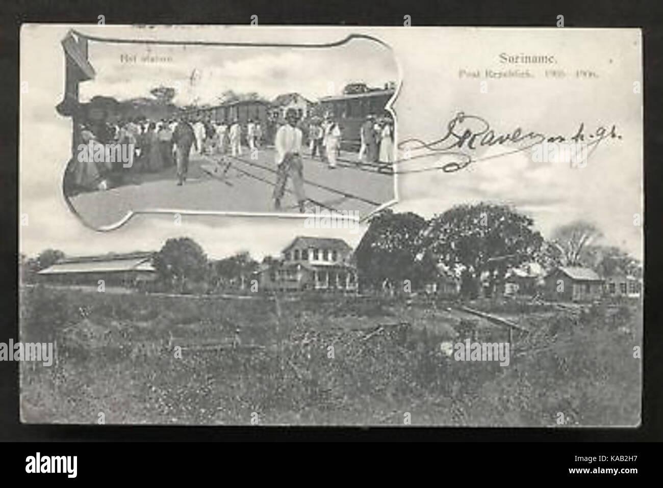 Republiek Railway Station Suriname 1905 - Stock Image