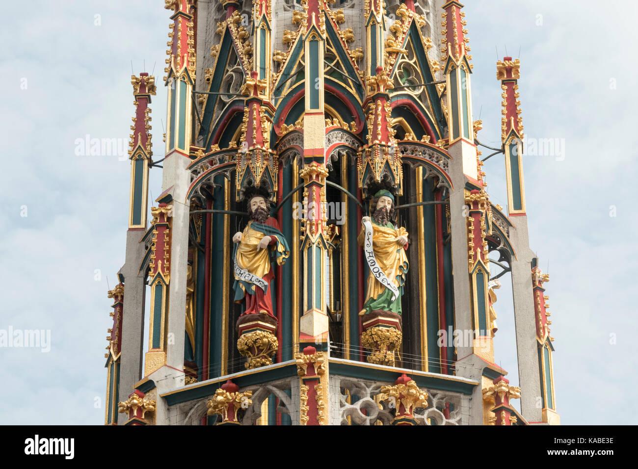 The Schöner Brunnen or beautiful fountain, Nuremberg Stock Photo