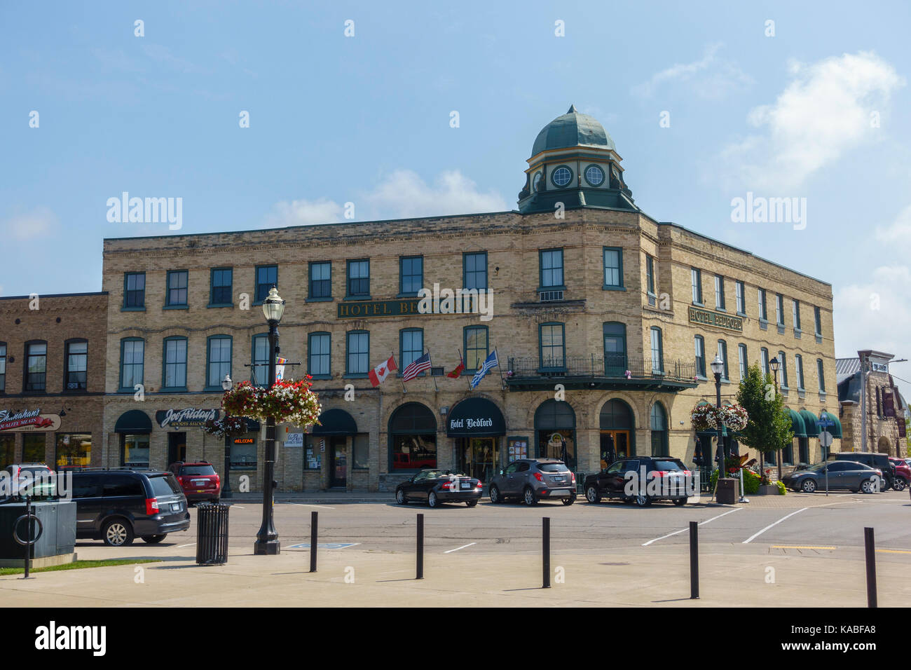 The Hotel Bedford In Goderich Town Centre A Heritage Building Ontario Canada, Goderich Voted The Prettiest Town - Stock Image