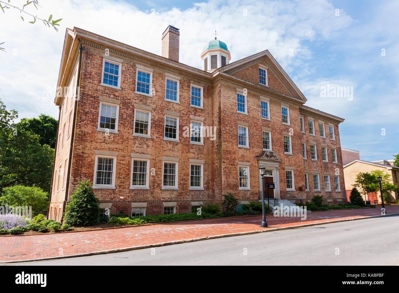 South Building at the University of North Carolina at Chapel Hill on May 19, 2015 in Chapel Hill, North Carolina. - Stock Image