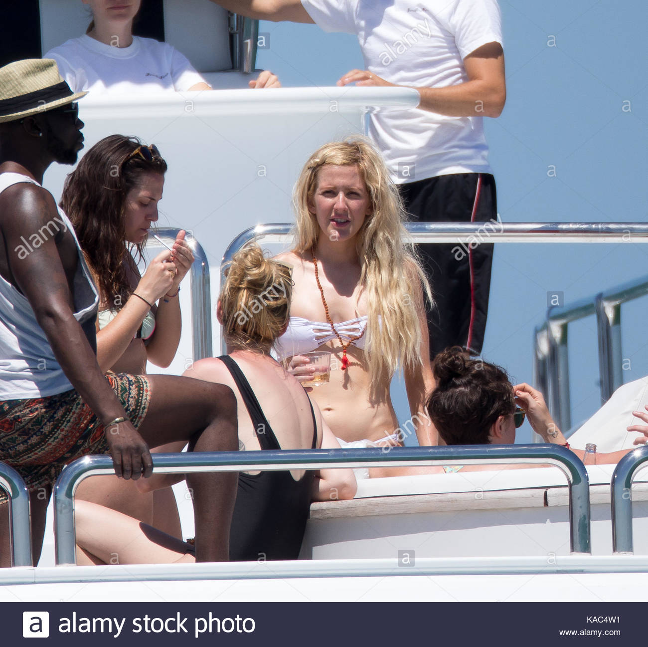 Ellie Goulding showed off her new Vegan diet bikini body as she partied on  a yacht in Miami, Florida. The 27-year-old British singer danced around  during a ...