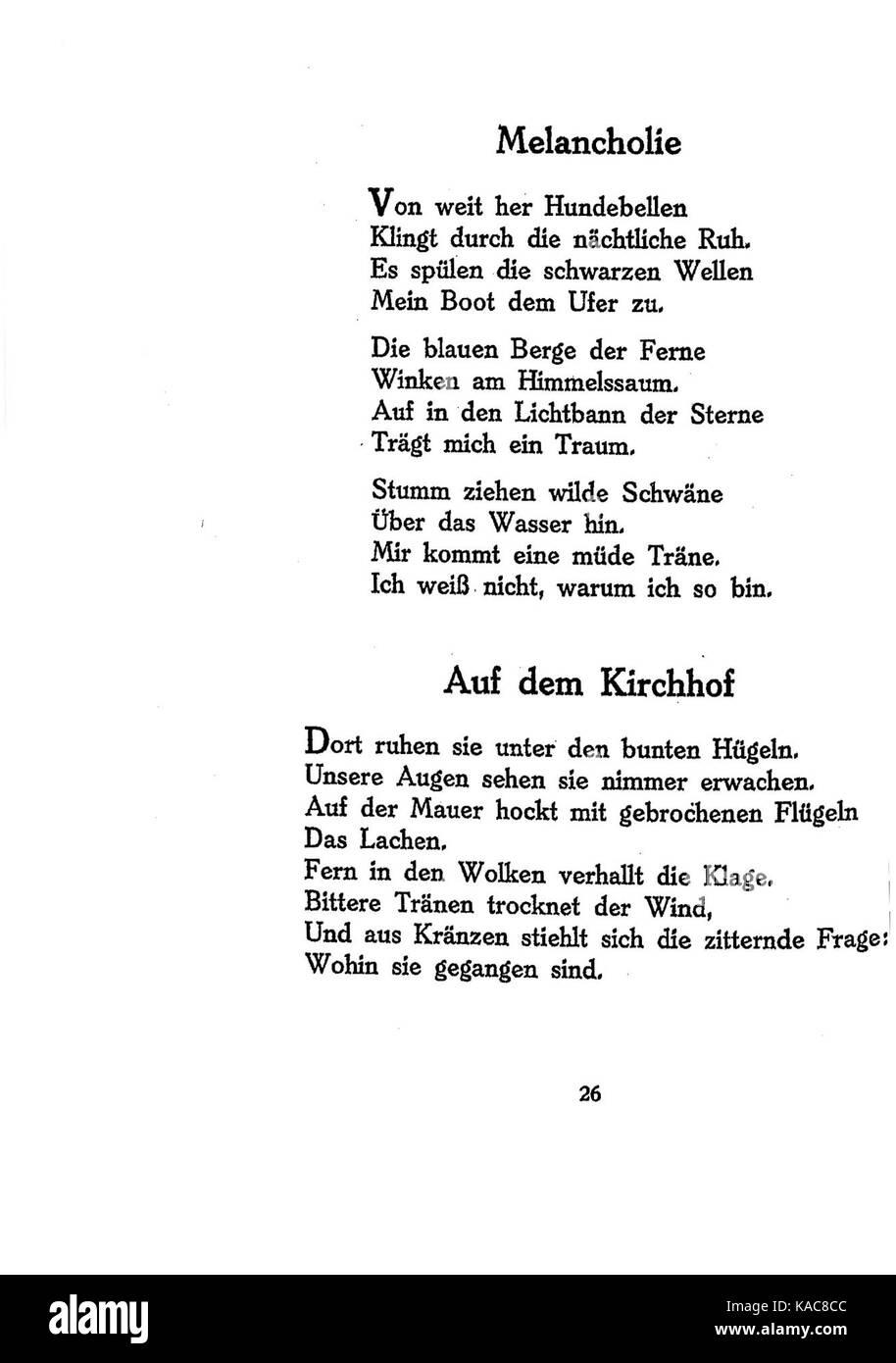 Ringelnatz gedichte jugend