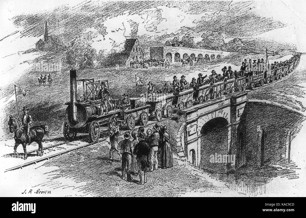 Stockton & Darlington Railway (Brown via Getty Images) Stock Photo