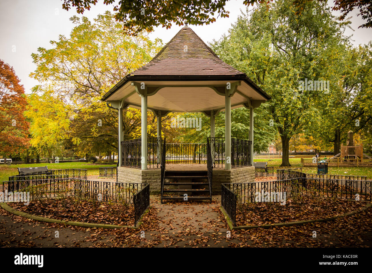 Bandstand in Page Park, Staple Hill, Bristol - Stock Image