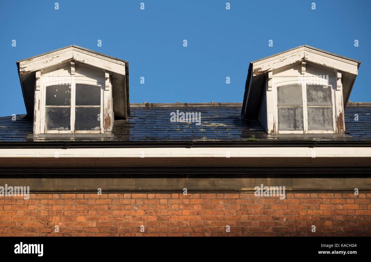 Architectural Features In The City Of Gloucester England Dormer Stock Photo Alamy