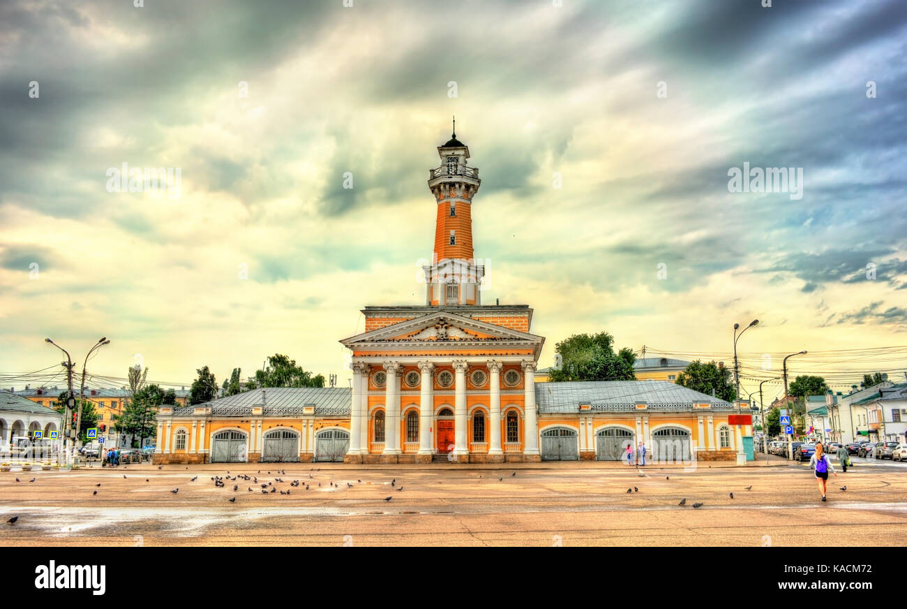 Old fire tower in Kostroma, Russia - Stock Image
