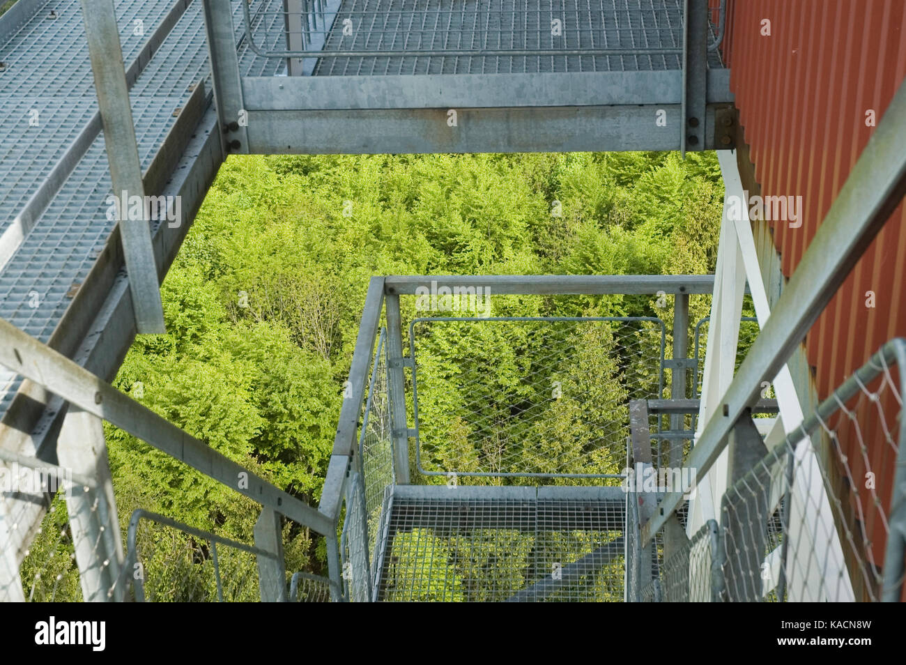staircase of an outlook tower - Stock Image