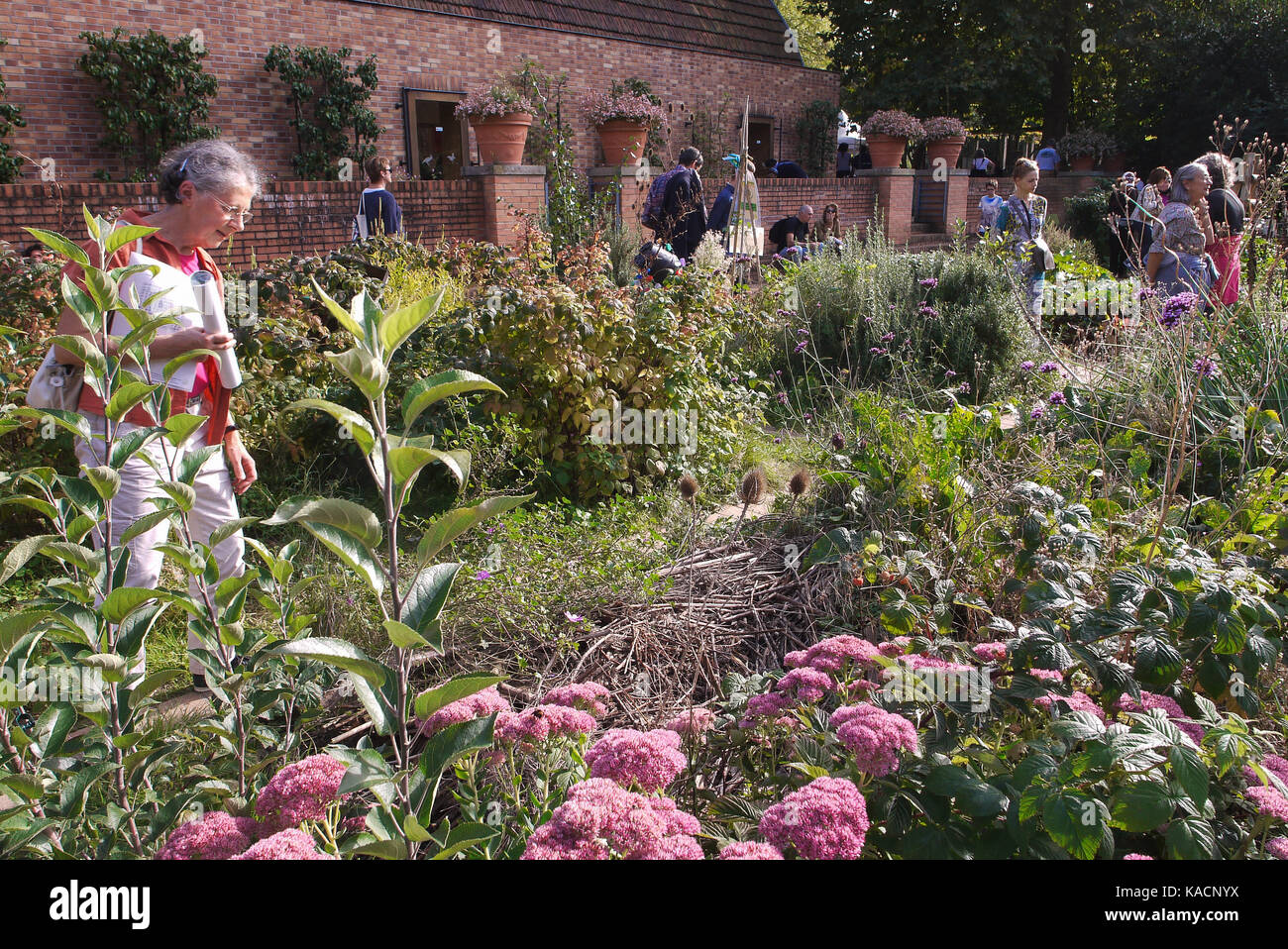 House of Gardening teaches practical experience to amateur gardeners at Bercy Park, Paris, France - Stock Image
