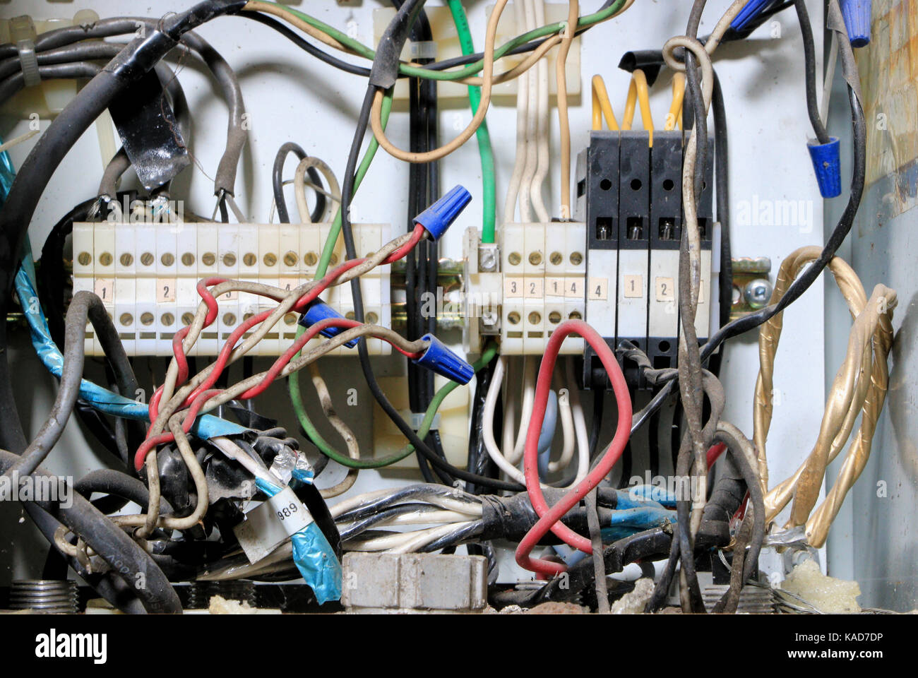 Electrical Junction Box Stock Photos House Wiring Telephone Or Data In E B Eddy Paper Mill Ottawa Canada