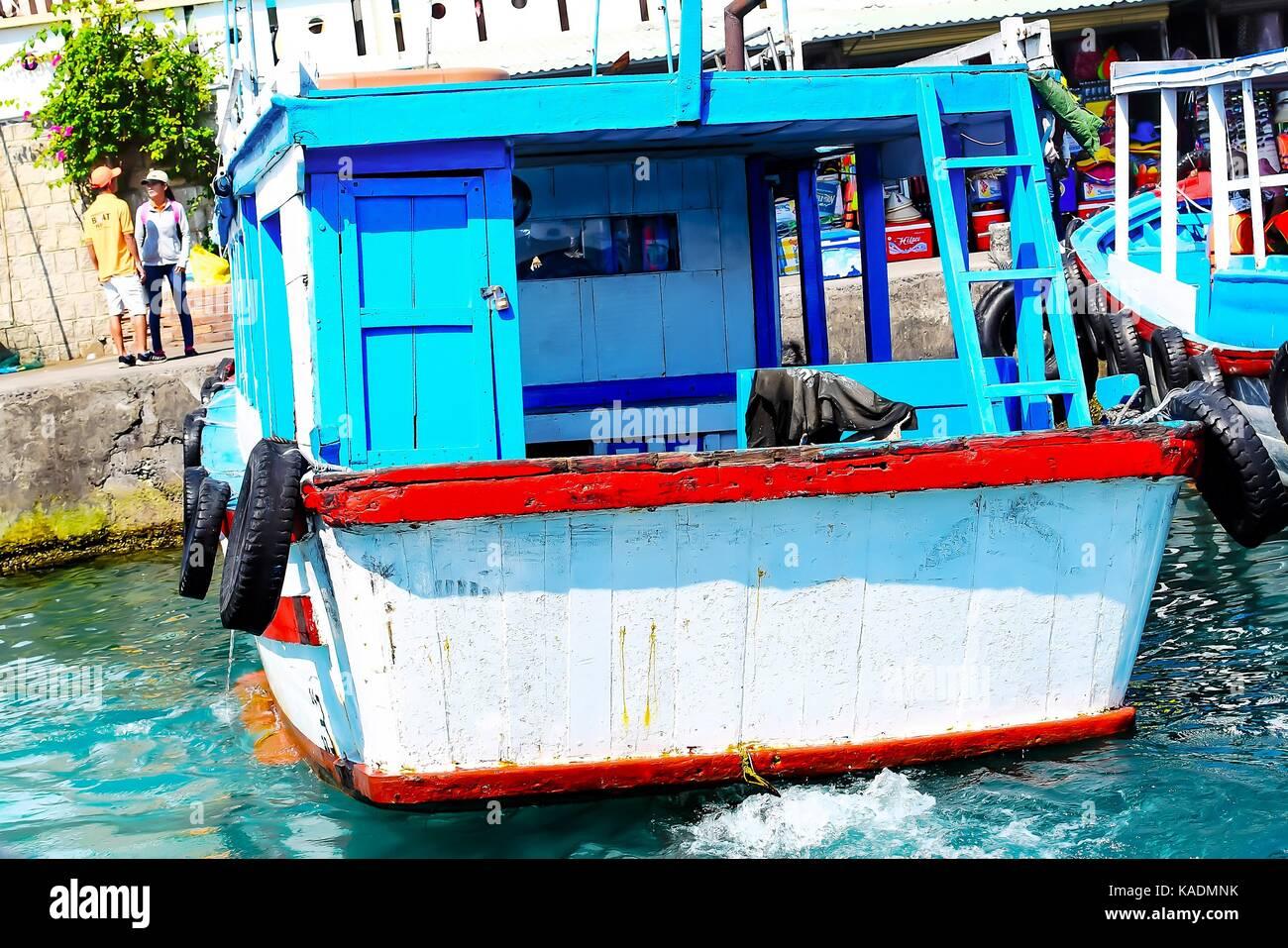 Fishing boats in marina at Nha Trang, Vietnam Stock Photo
