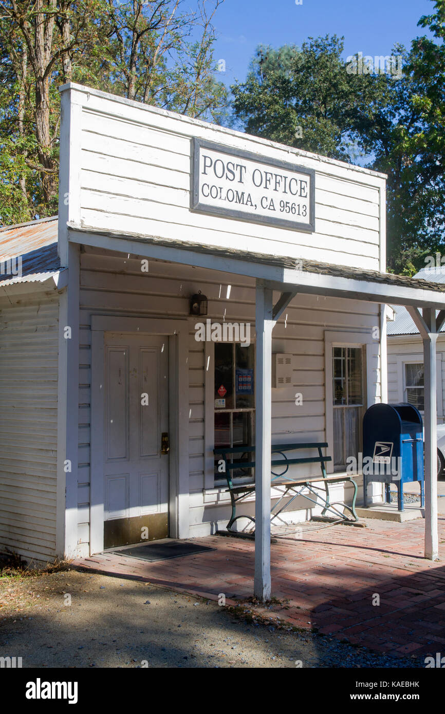 USA, California, Coloma, Post Office - Stock Image