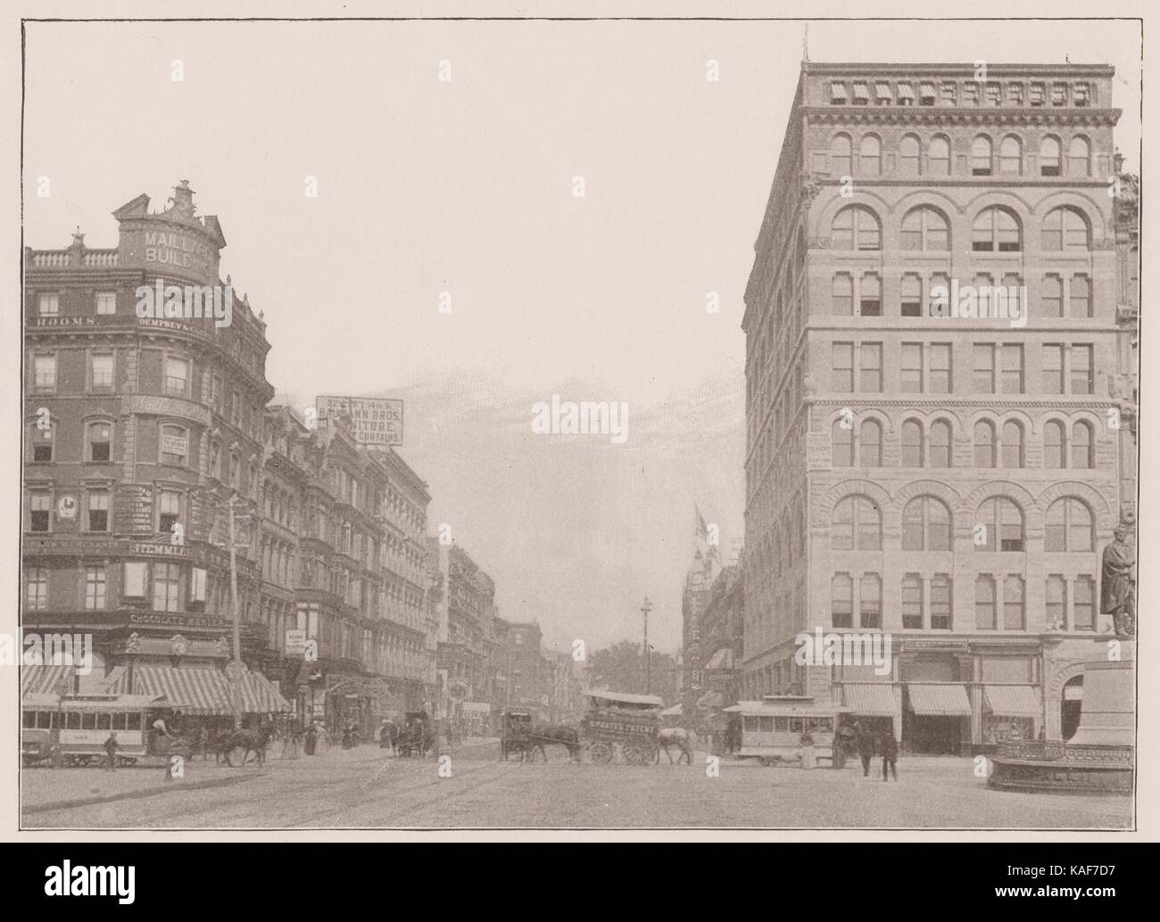 Fourteenth Street from Union Square - Stock Image