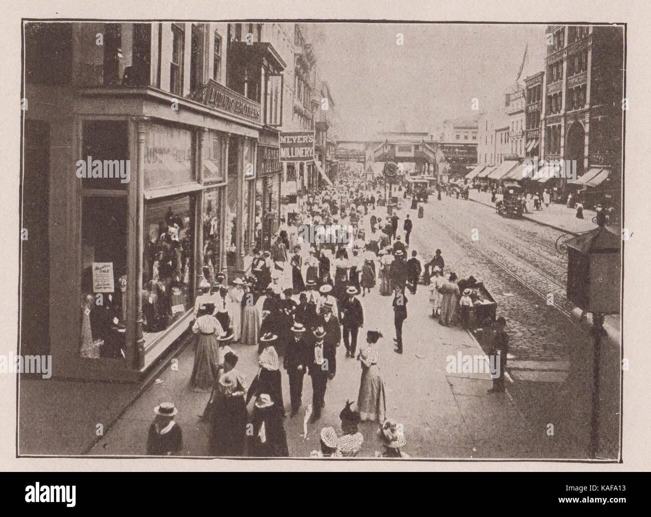 Fourteenth Street, Looking West - Stock Image