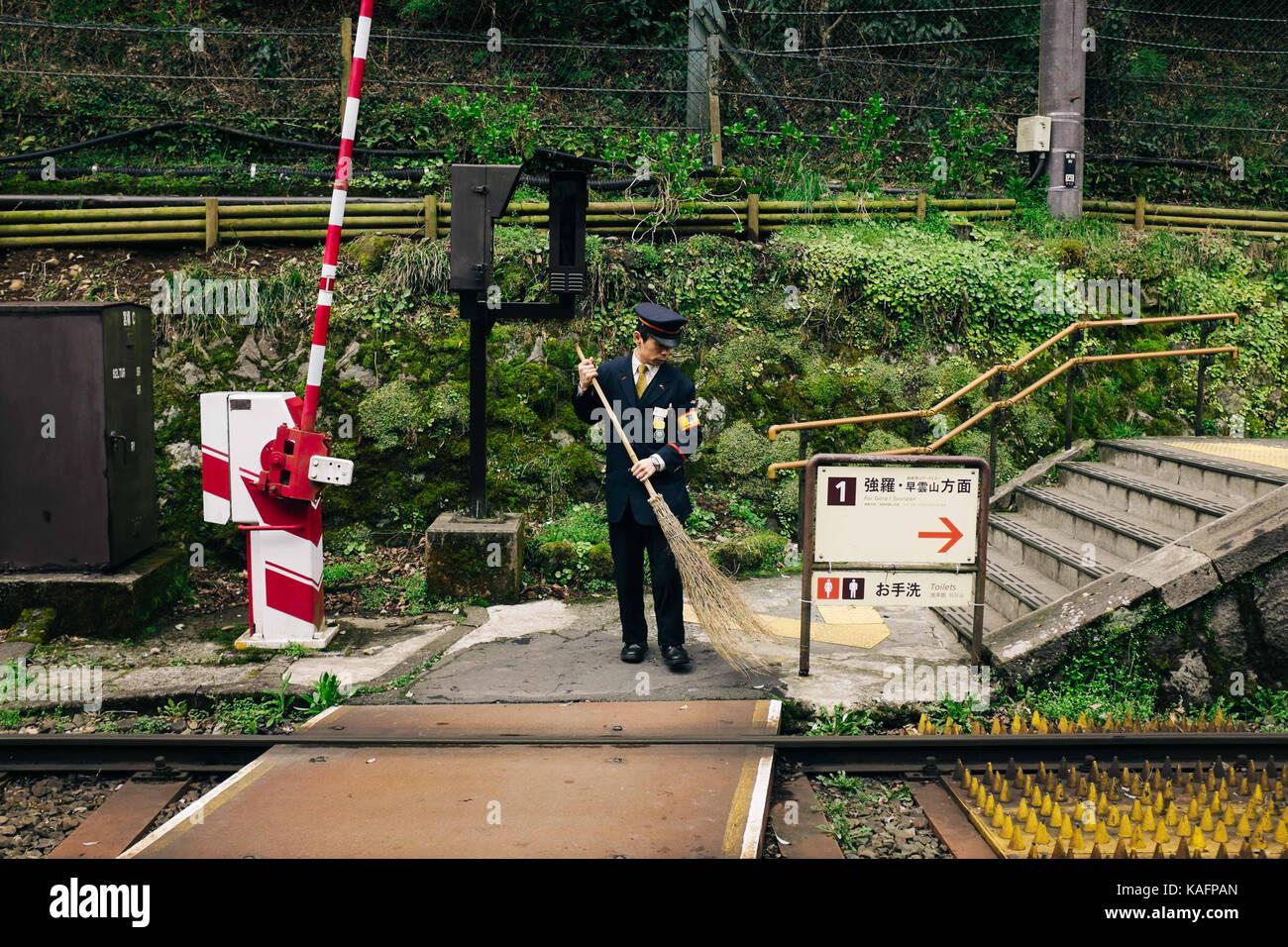 every day Street scene in Japan - Stock Image