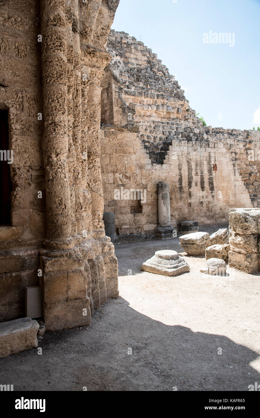the Crusader Church of St. Anne in Zippori (Sepphoris), Lower Galilee, Israel Stock Photo