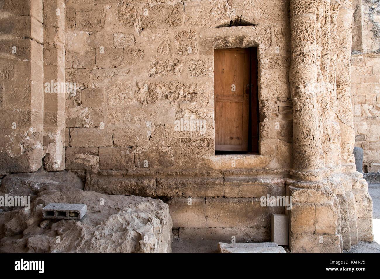 the Crusader Church of St. Anne in Zippori (Sepphoris), Lower Galilee, Israel Stock Photo