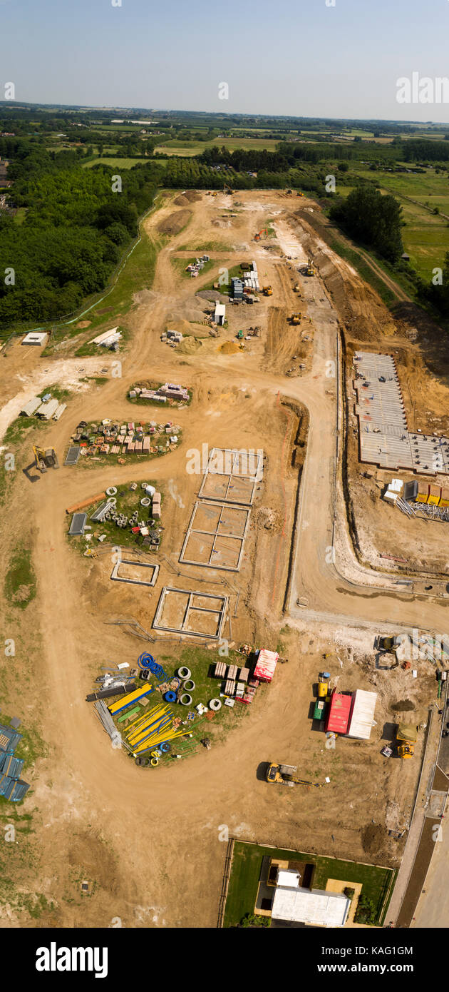 Redrow, Manor park development aerial shots of build - Stock Image