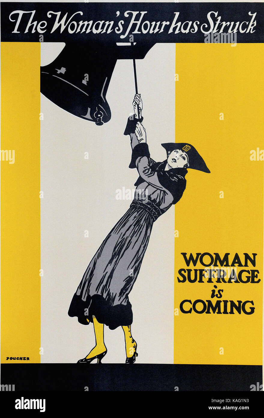 Vintage Poster - womens suffrage is coming Stock Photo