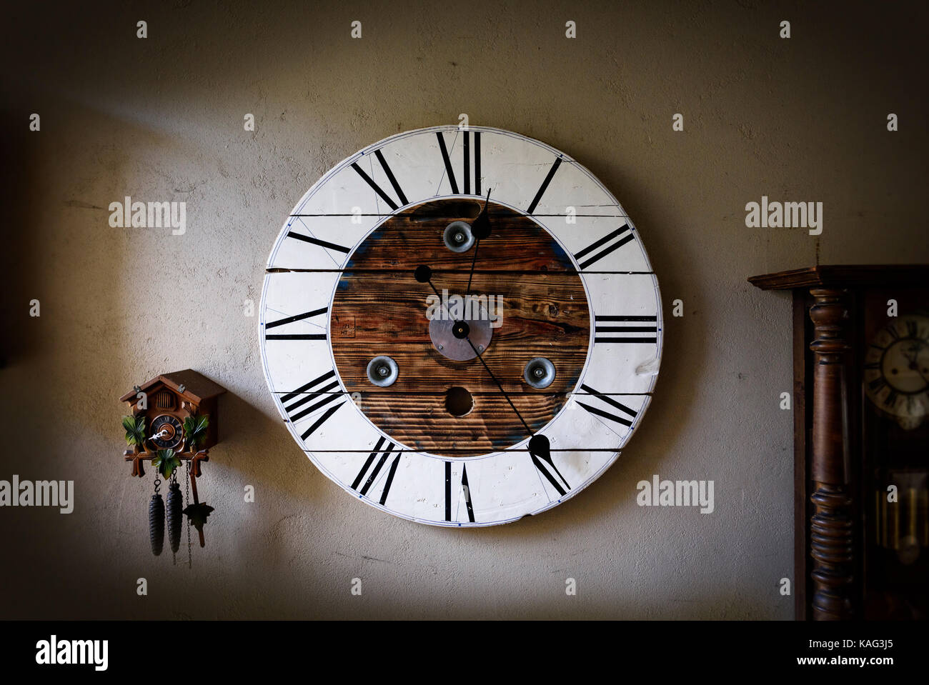 Clocks, time, time pieces, clock face, time passing temporal - Stock Image