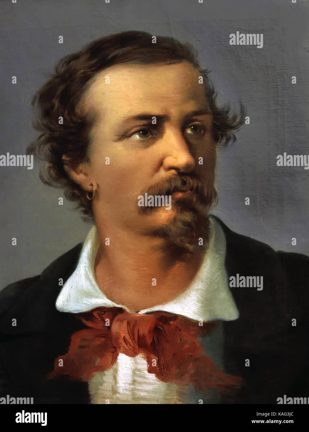 Angelo Brunetti Ciceruacchio 1800 - 1849 Italian patriot fighter for the second Roman Republic, whose fall fled - Stock Image
