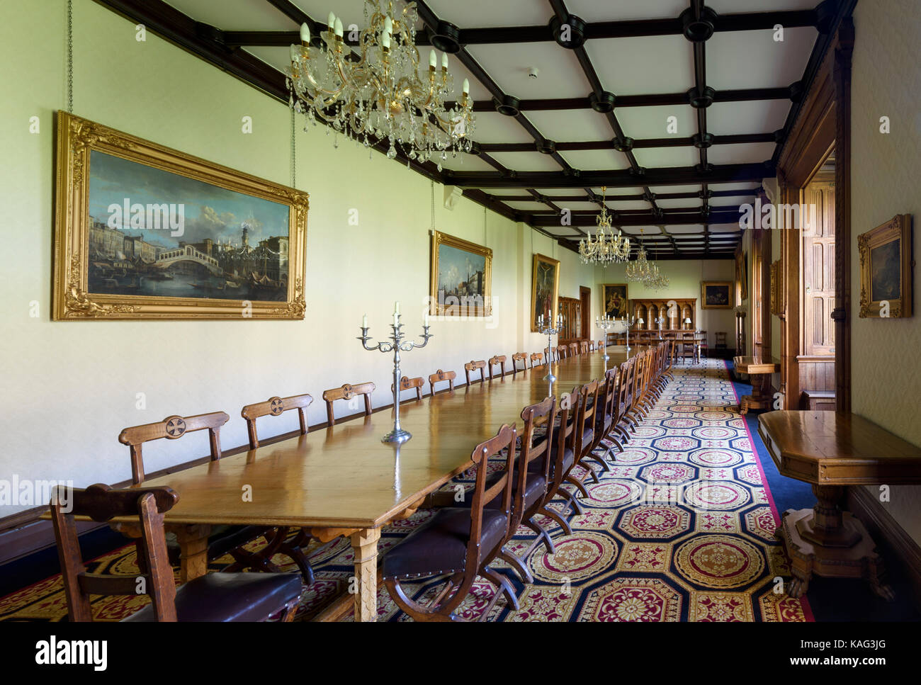 Edward Pugin designed Parlour in Ushaw College in County Durham - Stock Image