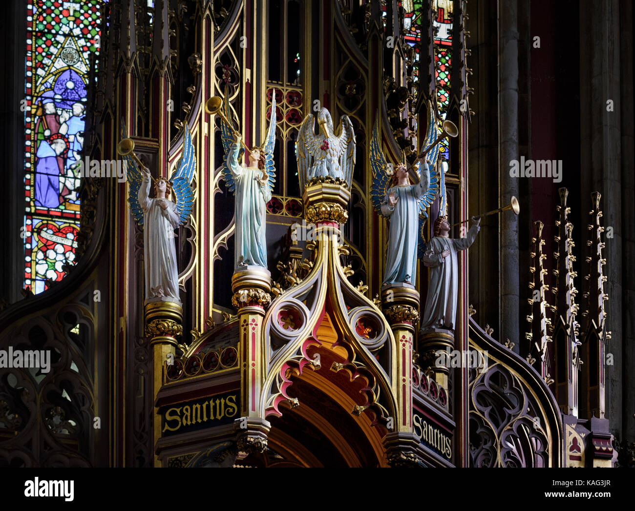 St Cuthbert's Chapel at the Augustus Pugin designed Ushaw College in County Durham - Stock Image