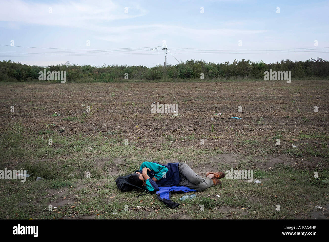 Europe, Serbia, Sid, September 2017 : After the great wave of migrants in recent years, the dramatic situation of - Stock Image