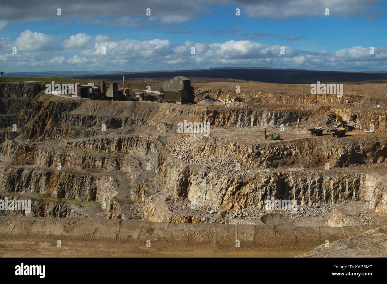 Coldstones Quarry, situated on Greenhow Hill,Pateley Bridge,North Yorkshire,at 1400 feet above sea level,is one - Stock Image