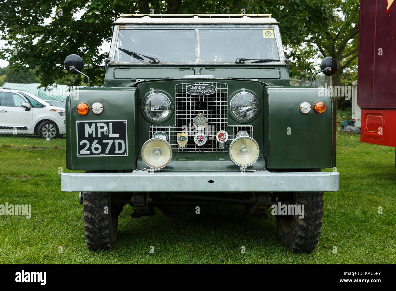 Series 1 Land Rover at the Three Counties Show in Malvern - Stock Image