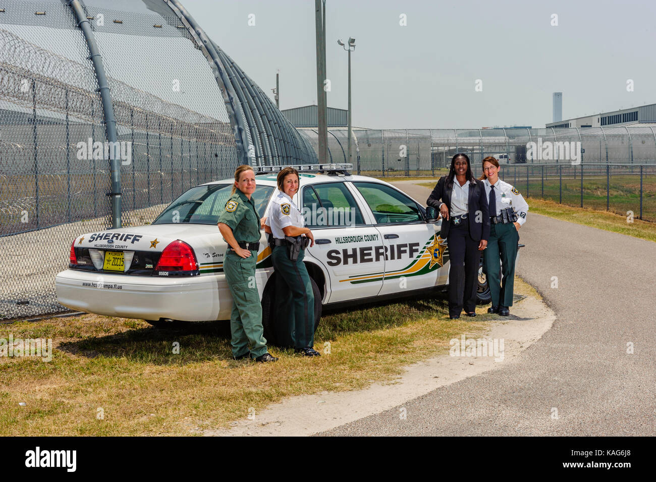 Amazing Four Female Deputies With The Hillsborough County Sheriffu0027s Office Standing  In Front Of A Patrol Car