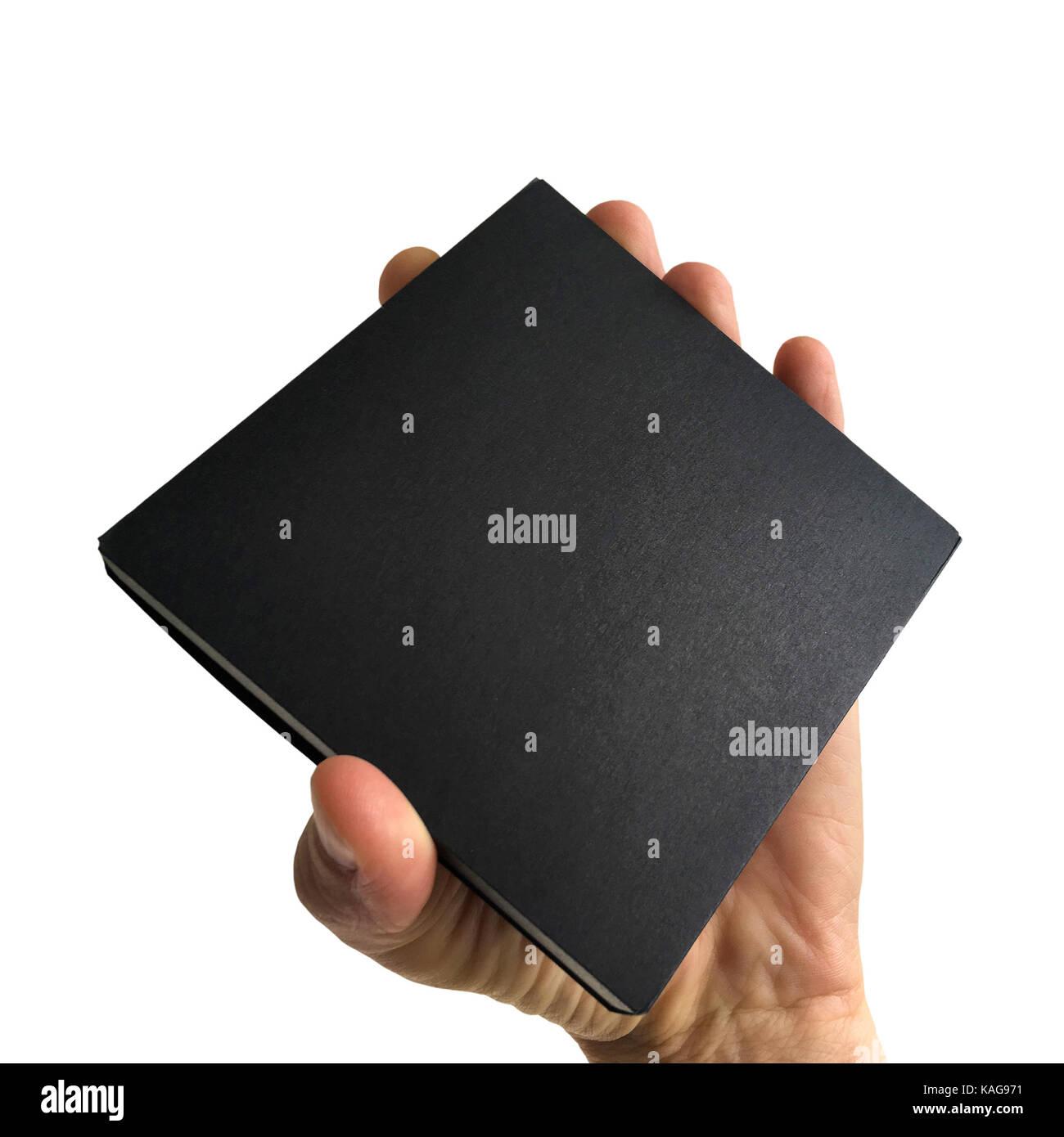 Black box isolated - Stock Image