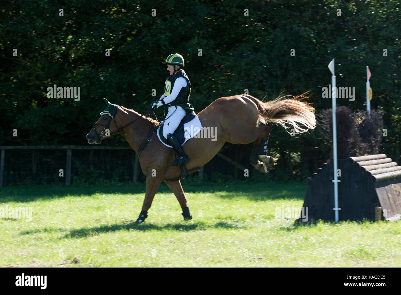 British Eventing Horse Trials, Moreton Morrell, Warwickshire, UK - Stock Image