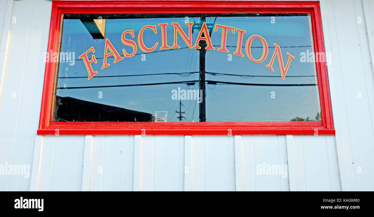 Fascination, a game of chance that has been historically part of amusement boardwalks, is still operational in Geneva - Stock Image