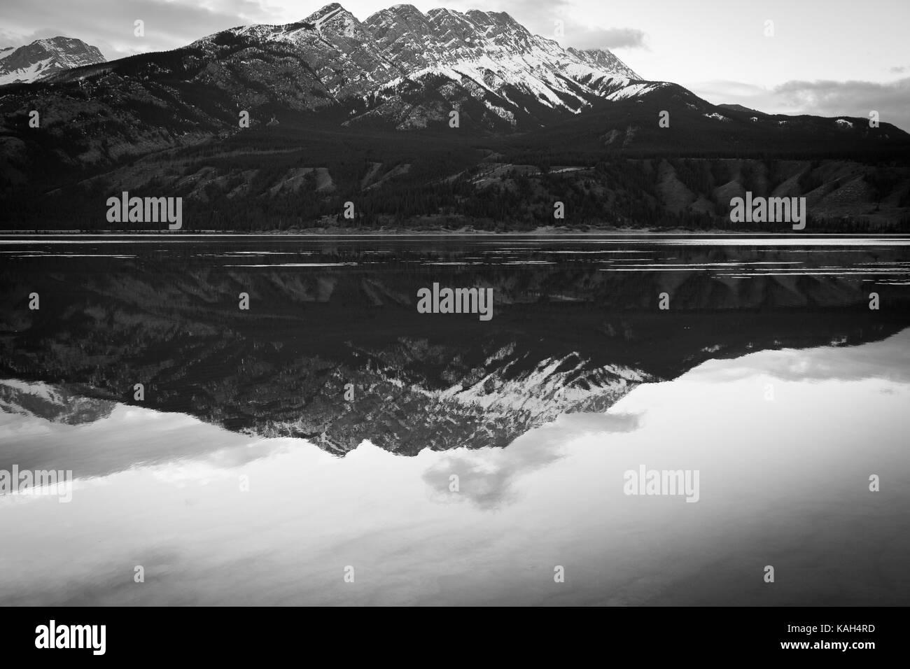 Medicine Lake Alberta Canada - Stock Image