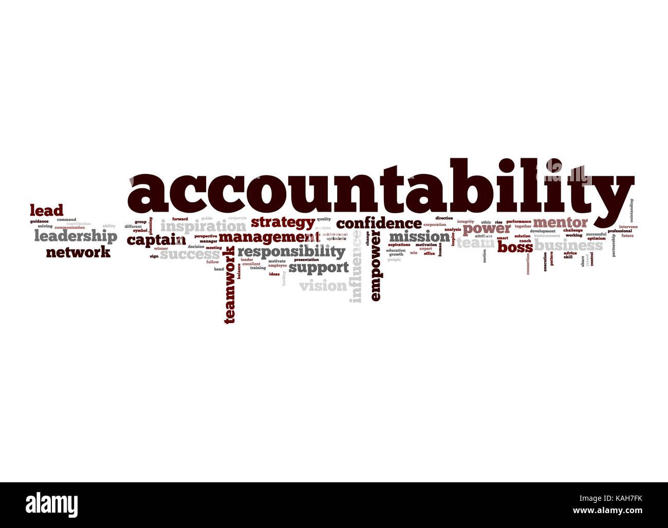 Accountability word cloud - Stock Image