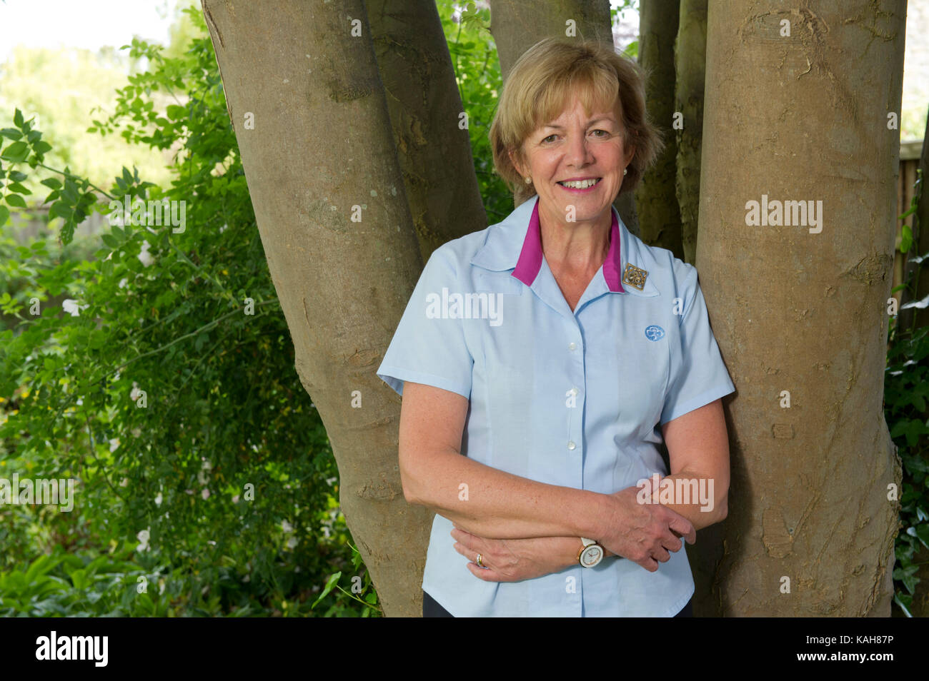 Gill Slocombe, Head Guide. - Stock Image