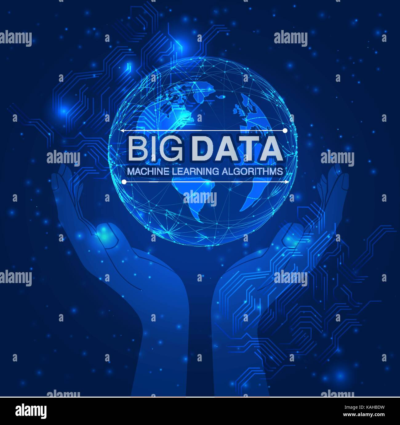 Vector big data information sorting visualization. - Stock Image