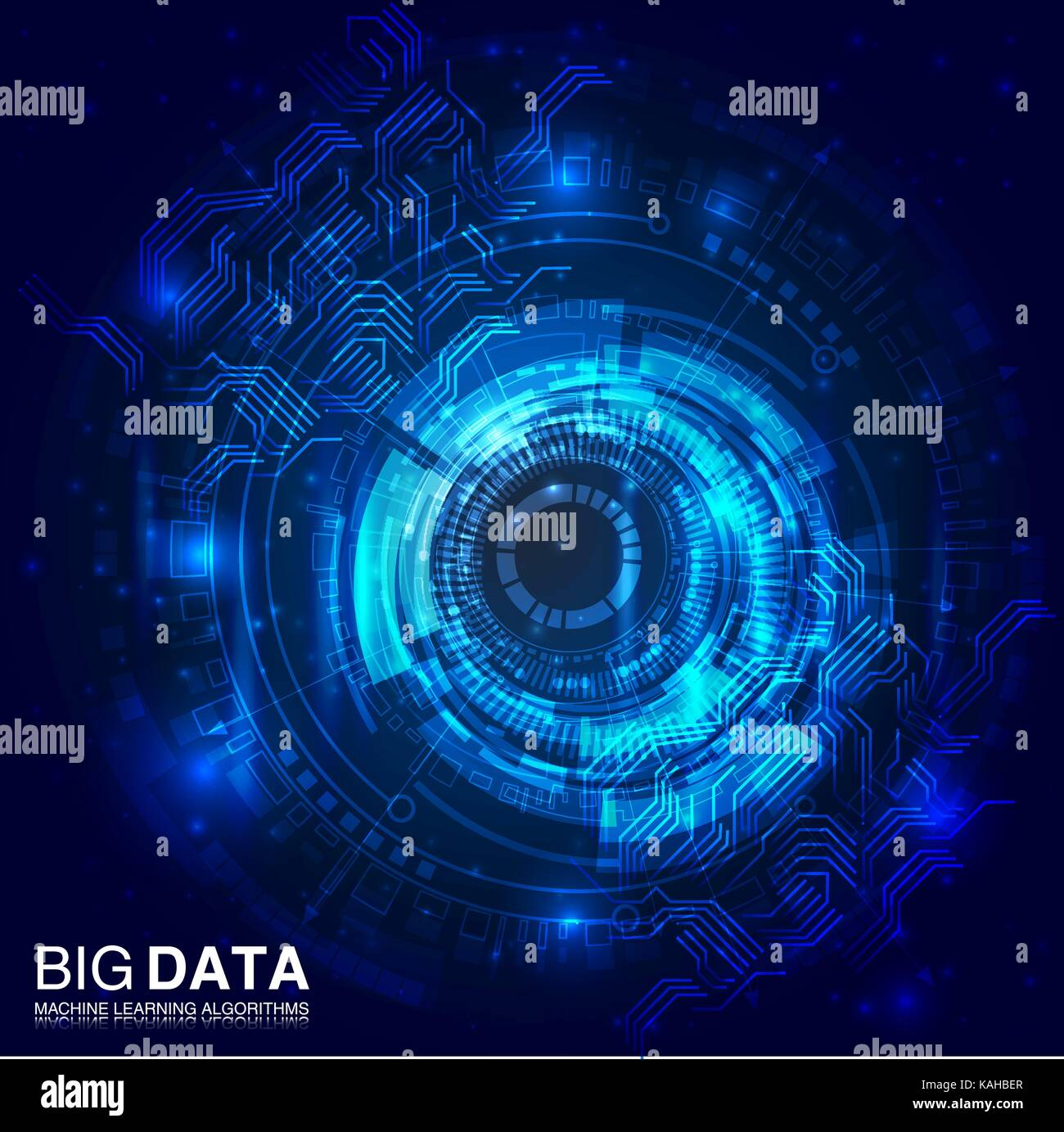 Big data visualization. Futuristic infographic. Information aesthetic design. - Stock Image