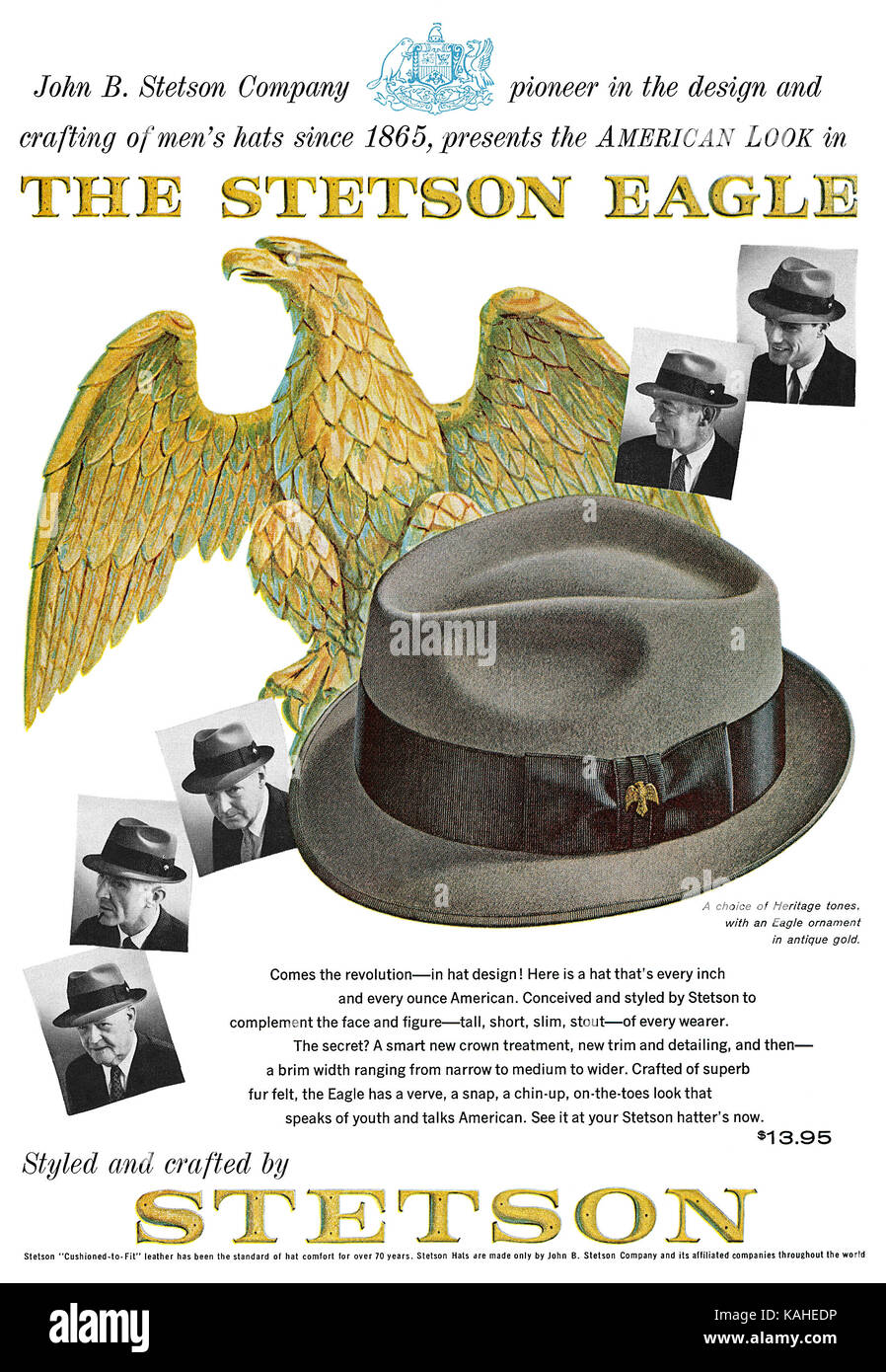 1961 U.S. advertisement for the Stetson Eagle hat Stock Photo ... 872d53f913f3