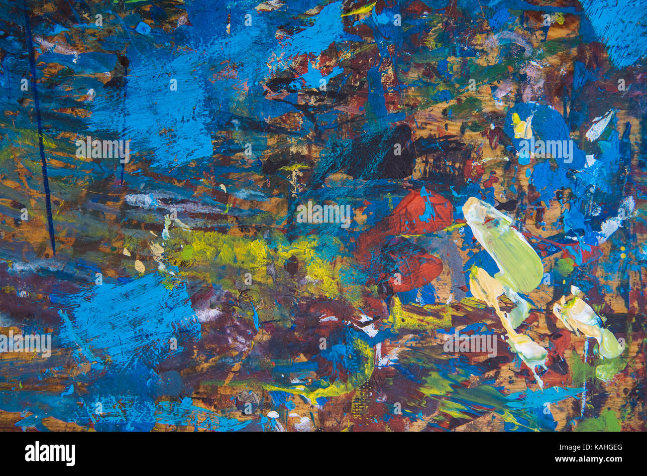Colourful colour palette - Stock Image