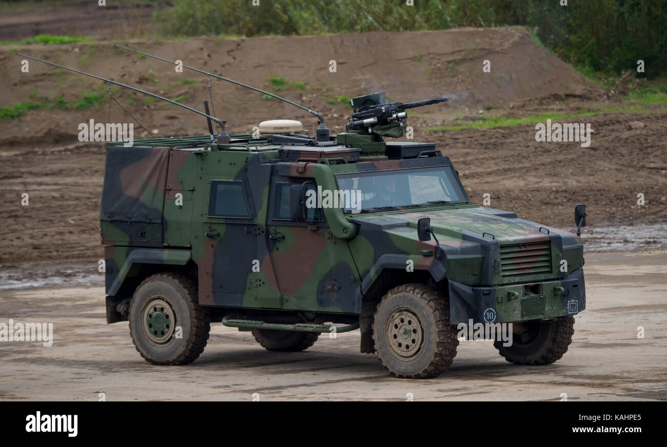 An Eagle Iv Armoured Vehicle Crossing The Training Ground During Stock Photo Alamy