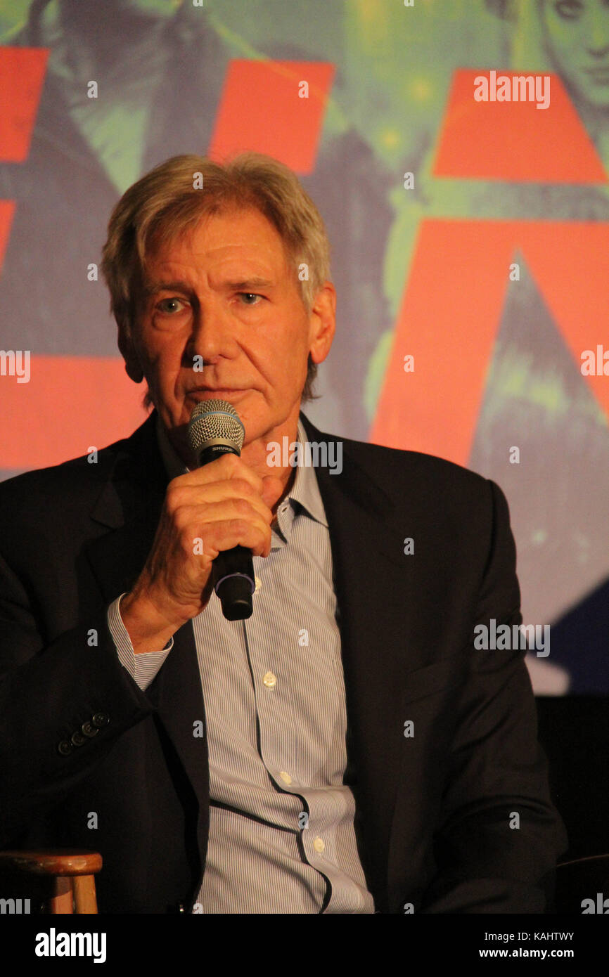 Harrison Ford  09/24/2017 'Blade Runner 2049' Press Conference held at JW Marriott Los Angeles L.A. LIVE - Stock Image