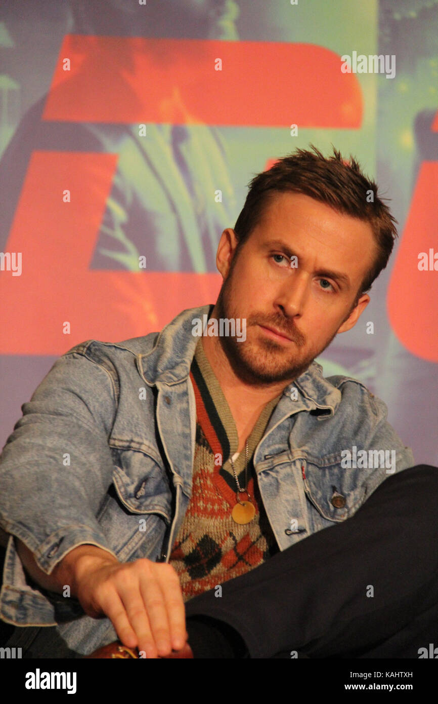 Ryan Gosling  09/24/2017 'Blade Runner 2049' Press Conference held at JW Marriott Los Angeles L.A. LIVE - Stock Image